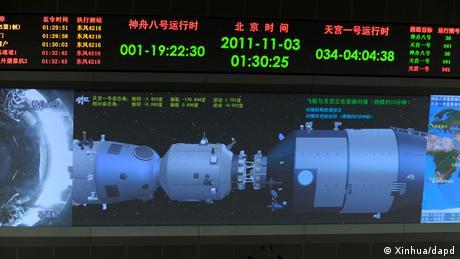 China Shenzhou 8 Andockmanöver