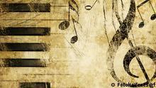 Musik Symbolbild Noten Notenschlüssel neu