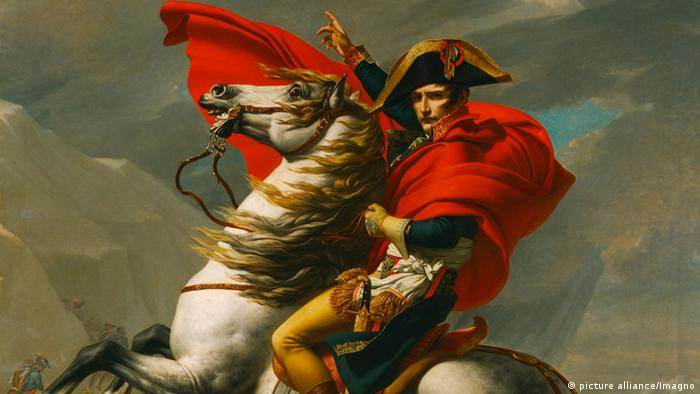 A painting of Napoleon on his horse