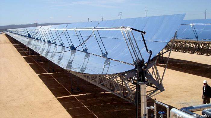 Solar Millenium AG: Solarkraftwerk Aldeire Spanien (Foto: dpa).