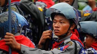 Polizei in Birma Myanmar