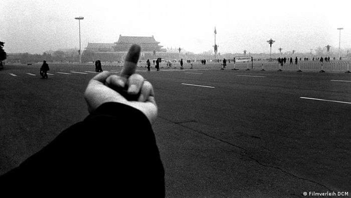 Screenshot from the film Ai Weiwei - Never Sorry by Alison Klayman
