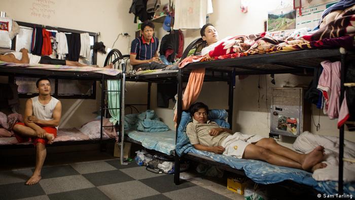 Sammelunterkunft für nepalesische Arbeiter in Katar (Foto: Sam Tarling)