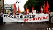 Moskau - Proteste gegen Putin