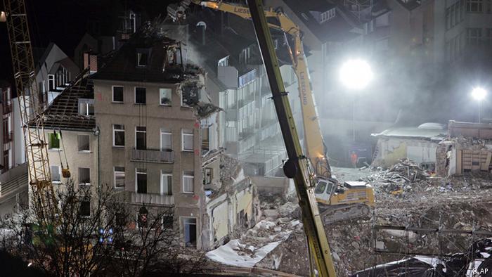 Mjesto urušenja na gradilištu podzemne željeznice u Kölnu