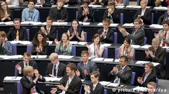 A staged session of parliament in June 2012 (Wolfgang Kumm dpa/lbn pixel)