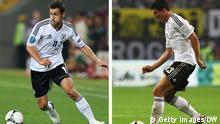 Kombobild Fußball EM 2012 - Miroslav Klose vs Mario Gomez