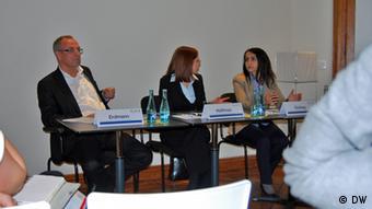 Gero Erdmann and Gülistan Gürbey at a GIGA conference on Turkey in Africa Autor/Copyright: Yilma Hinz, DW,