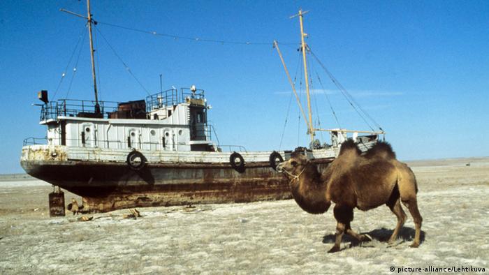 Высохшая часть Аральского моря