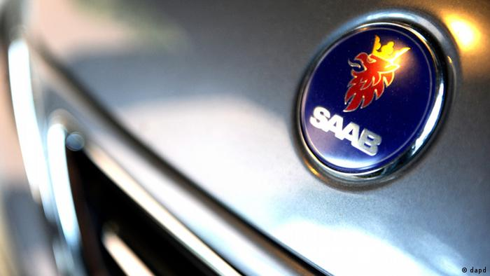 Saab logo on a hood
