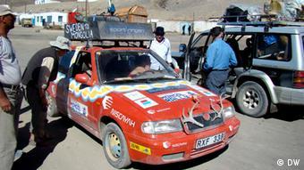 Иностранные туристы на Памире