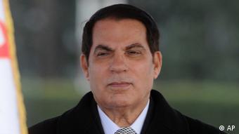 Deposed Tunisian President Zine El Abidine Ben Ali