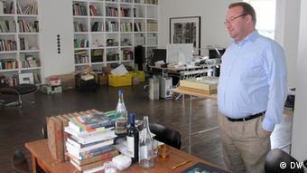 Elger Esser, pictured here in his atelier in Dusseldorf
