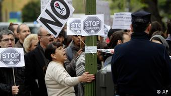 Protest against forced evictions in Spain ((Foto:Alberto Di Lolli/AP/dapd)