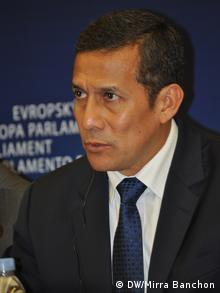 Ollanta Humala, presidente del Perú, en el Parlamento Europeo.