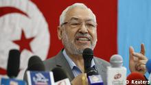 Rachid Ghannouchi, leader of the Ennahda movement, Tunisia's main Islamist political party, speaks at a news conference in Tunis June 13, 2012. REUTERS/Zoubeir Souissi (TUNISIA - Tags: POLITICS)