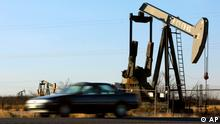 Ölpumpe Ölförderung Texas USA Ölfeld Öl