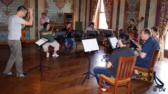 Musicians' workshop in an ornate setting at the University of Istanbul. Photo: Claire Horst