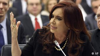 Argentine President Cristina Fernandez de Kirchner addresses the Special Committee at the UN