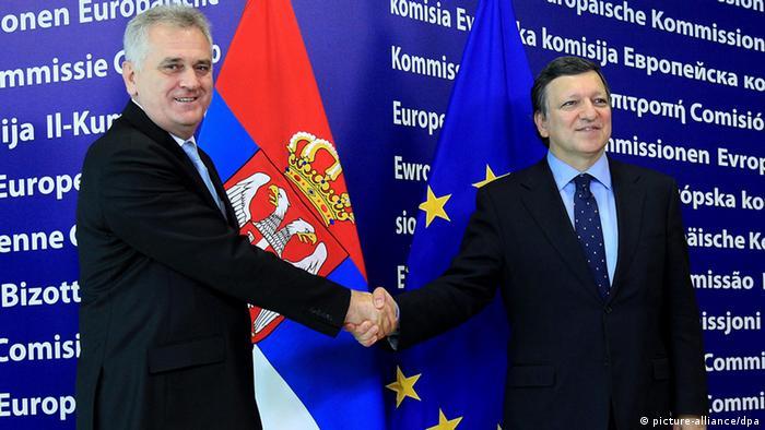 Serbien Präsident Tomislav Nikolic Jose Manuel Barroso