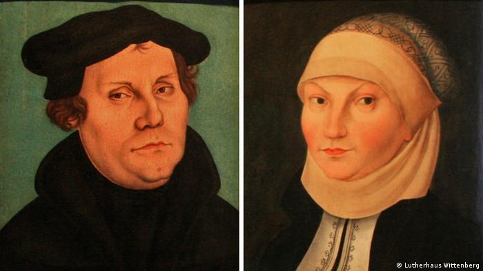 Martín Lutero y su mujer, Katharina von Bora.