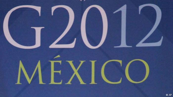 Banner for G20 summit in Mexico