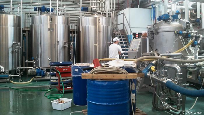 Italienische Lebensmittelfabrik in Monterenzio
