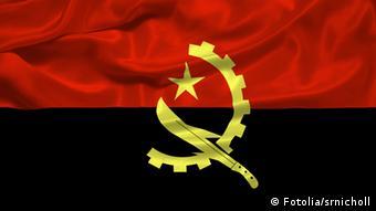 Angola Fahne Flagge Symbolbild