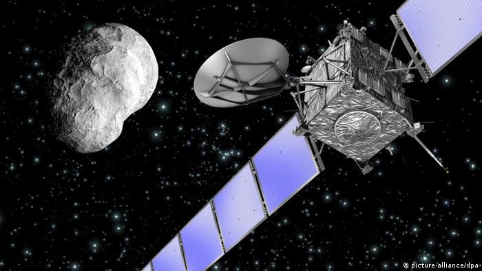 Illustration of Rosetta and a comet Photo: ESA/C. Carreau