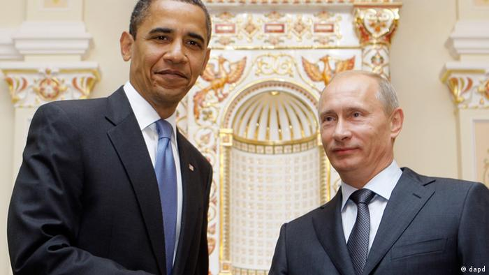 Obama and Putin pictured together in Russia (AP Photo/Haraz N. Ghanbari)