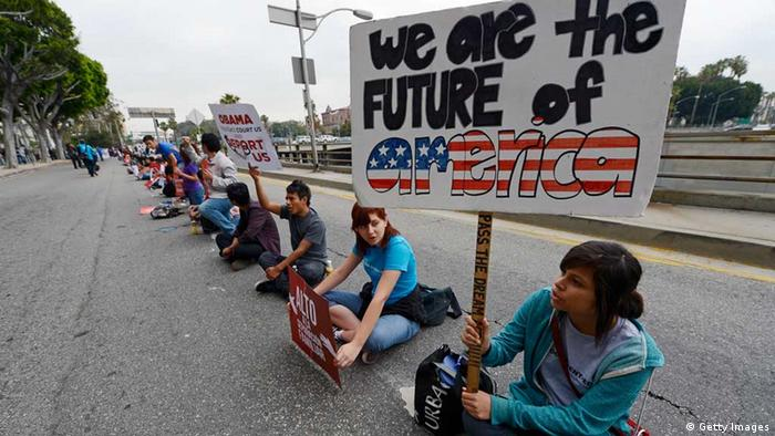 Students in California protest deportations (Photo by Kevork Djansezian/Getty Images)