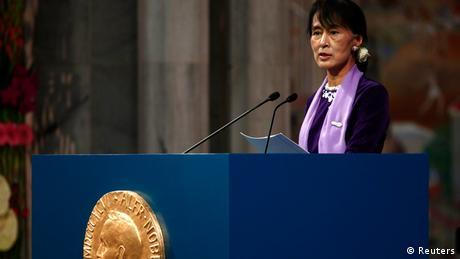 Aung San Suu Kyi Rede in Oslo Nobelpreis