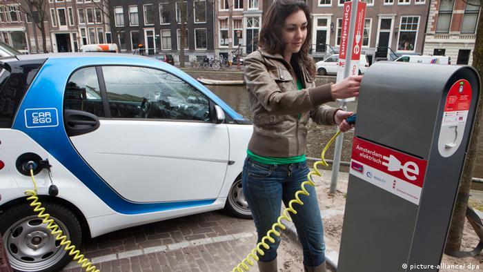 Carsharing in Amsterdam Niederlande