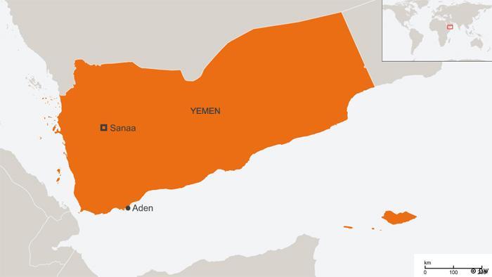Map of Yemen including Aden