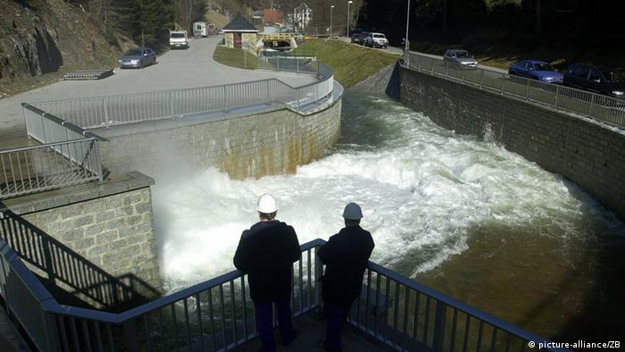 A pumped storage hydroelectric power station in Goldithal, Germany