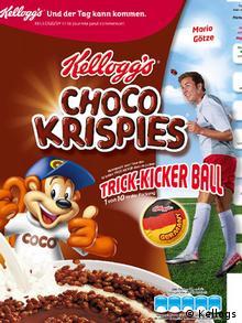 Kellogg's Mario Götze Werbung Verpackung