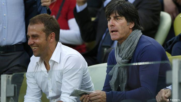 Hansi Flick and Joachim Löw at the 2012 European Championships.