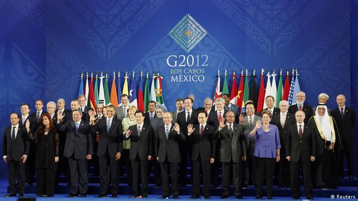 G20 Gruppenbild 2012 Los Cabos Mexiko