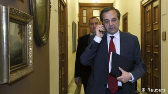 Antonis Samaras had promised to renegotiate the terms of the Greek austerity package.