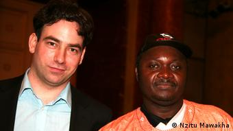 Director Michael Ruf (l.) with Ali from Togo
