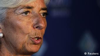 International Monetary Fund (IMF) Managing Director Christine Lagarde speaks during a news conference on the second day of the G20 Summit in Los Cabos June 19, 2012. REUTERS/Henry Romero (MEXICO - Tags: POLITICS BUSINESS)