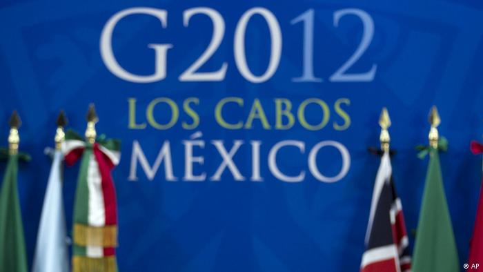 a press conference during the G20 summit in Los Cabos, Mexico, Tuesday, June 19, 2012. (Foto:Esteban Felix/AP/dapd)