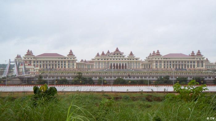 Parliamentary buildinng in Naypyidaw, Myanmar