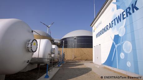 Wasserstoff-Hybridkraftwerk (Copyright: ENERTRAG/Tom Baerwald)