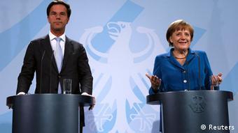 Ангела Меркель и Марк Рютте