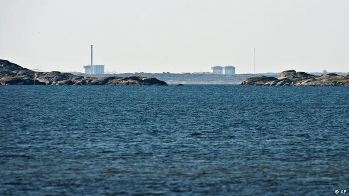 The Ringhals atomic power station near Varberg, Sweden, seen in the distance