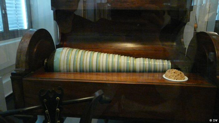 A glass harmonica in Leipzig's Museum for Musical Instruments