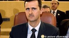 Präsident Baschar al-Assad Syrien Archivbild
