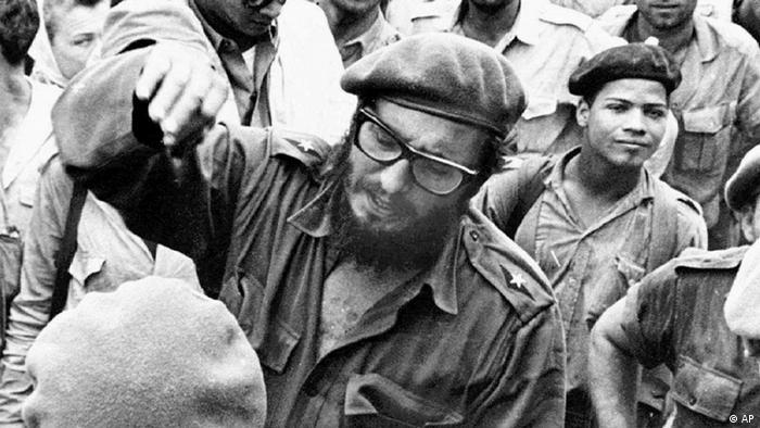 Fidel Castro durante la invasión
