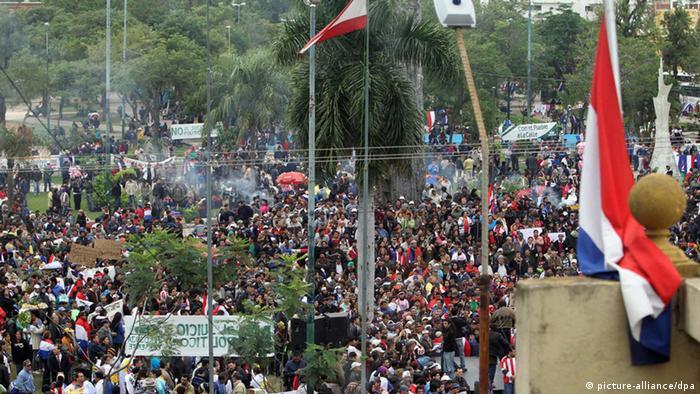 Protestas tras la destitución de Lugo en 2012 (imagen de archivo).